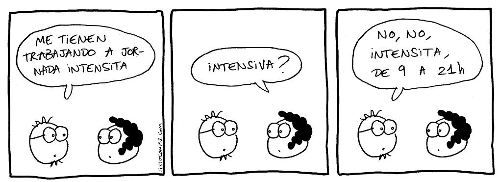 Tira cómica sobre la jornada laboral.