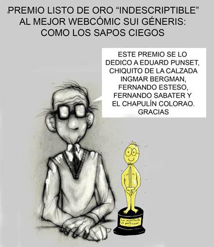 Javi Guerrero dedica su Listo de Oro a Eduardo Punset
