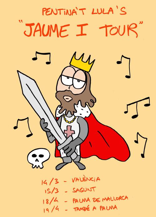 Cartel de la Pentina't Lula's Jaume I Tour