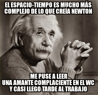 Albert Einstein complaciente