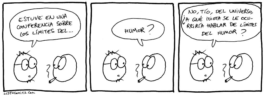 Tira cómica sobre los debates, artículos y conferencias sobre los límites.